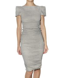 La Petite Salope | Metallic Super Stretch Linen Canvas Dress | Lyst