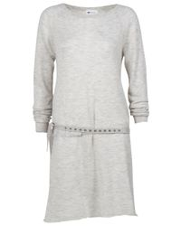Vanessa Bruno Athé | Gray Knit Sweater Dress | Lyst