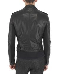 Burberry Prorsum - Black Lambskin Biker Leather Jacket for Men - Lyst