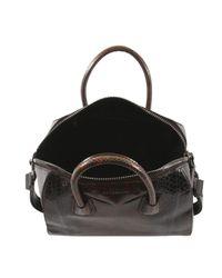 Givenchy | Rustic Brown Antigona Python Tote Bag | Lyst