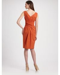 Max Mara | Orange Navale Bow Dress | Lyst
