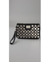 Rebecca Minkoff | Black Studded Cosmo Wristlet | Lyst