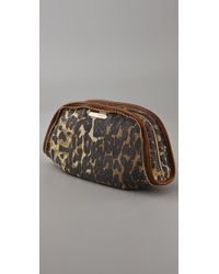 Rebecca Minkoff - Multicolor Large Washed Denim Cheetah Cosmo Pouch - Lyst