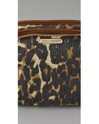 Rebecca Minkoff | Multicolor Large Washed Denim Cheetah Cosmo Pouch | Lyst