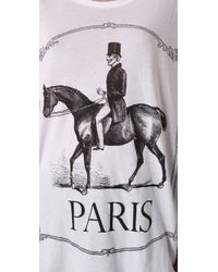 Wildfox | White Paris Pony Tee | Lyst