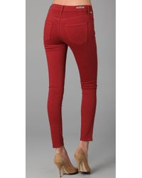 Citizens of Humanity - Red Thompson Twill Pants in Picante - Lyst