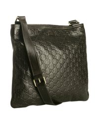 Gucci | Brown Cocoa Ssima Leather Messenger Bag for Men | Lyst