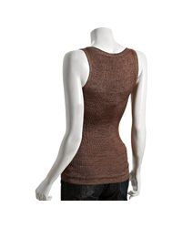Gucci | Brown Copper Space Dyed Sleeveless Sweater Tank | Lyst