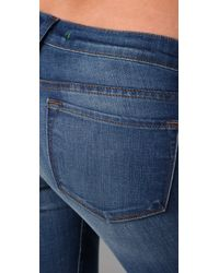 J Brand   Blue Low Rise Skinny Jeans   Lyst