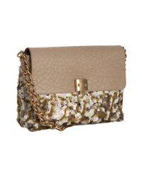Marc Jacobs - Natural Beige Sequin and Leather Single Flap Shoulder Bag - Lyst