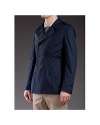 Brunello Cucinelli | Blue Double Breasted Jacket for Men | Lyst
