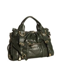 Kooba | Green Glazed Leather Satchel | Lyst