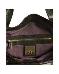Kooba | Green Glazed Leather Satchel | Lyst