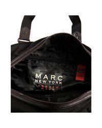 Marc New York - Black Woven Patch Pocket Gym Duffel Bag for Men - Lyst