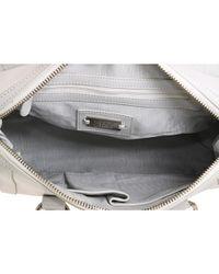 Badgley Mischka - White Small Leather Satchel - Lyst