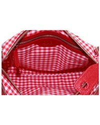 Dolce & Gabbana | Red Gingham print shoulder bag | Lyst