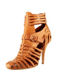 Givenchy | Brown Woven Leather Sandal | Lyst