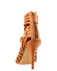 Givenchy - Brown Woven Leather Sandal - Lyst