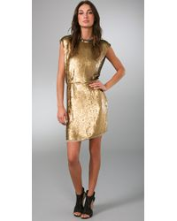Rachel Roy | Metallic Sequin Dress | Lyst