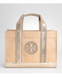 Tory Burch | Natural Straw Tory Tote | Lyst
