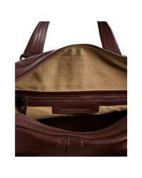Andrew Marc | Brown Cognac Leather Morgan Weekend Duffel Bag for Men | Lyst