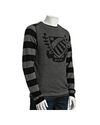 DIESEL | Gray Grey Cotton Klaxon Crewneck Sweater for Men | Lyst