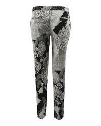 Etro | Gray Paisley Linen Capri Trousers | Lyst