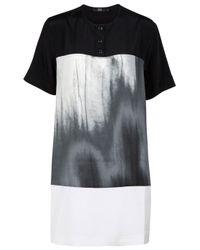 Markus Lupfer | Black Pretty Cotton Mini T-shirt Dress | Lyst