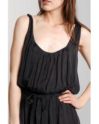 Giada Forte | Black Silk Maxi Dress in Piomb | Lyst