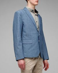 General Assembly - Blue Chambray Blazer for Men - Lyst