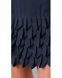 Alice + Olivia | Blue Ruffle Skirt Tank Dress | Lyst