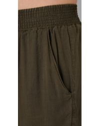 Current/Elliott | Green The Lounge Trousers | Lyst