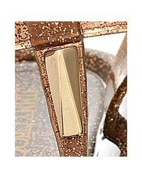 Jimmy Choo | Metallic Bronze Glitter Pvc Thong Maui Sandals | Lyst