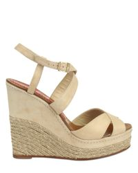 Paloma Barceló | Natural America Suede Espadrille Wedge Sandals | Lyst