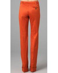 RED Valentino | Orange Wide Leg Pants | Lyst