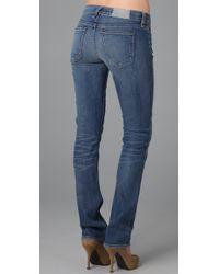 Textile Elizabeth and James | Blue Cass Straight Leg Jeans | Lyst