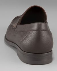 Ferragamo | Brown Dato Penny Loafer for Men | Lyst
