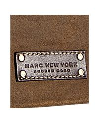 Marc New York - Brown Retro Suede Messenger Bag for Men - Lyst
