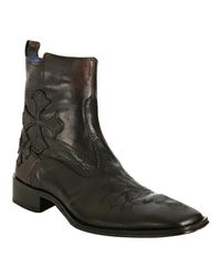 Mark Nason - Dark Brown Leather Syphon Boots for Men - Lyst