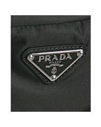 Prada - Black Nylon Waist Bag for Men - Lyst