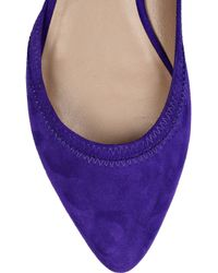 Belle By Sigerson Morrison - Purple Velour Cutaway Suede Flats - Lyst