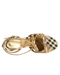 Burberry | Metallic Haymarket Colour Trim Espadrille | Lyst