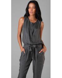 DKNY | Gray Sleeveless Jumpsuit | Lyst