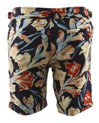 Paul Smith - Blue Floral Print Swim Shorts for Men - Lyst