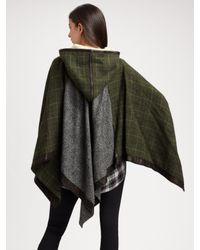 Rag & Bone - Green Northfield Hooded Poncho - Lyst