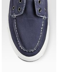 Converse | Blue Jack Purcell Twill Boat Shoes for Men | Lyst
