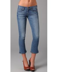 Current/Elliott | Blue Denim The Kicker Jeans | Lyst