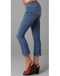 Current/Elliott - Blue Denim The Kicker Jeans - Lyst