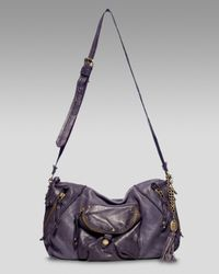 Olivia Harris | Purple Garment Washed Crossbody Bag | Lyst