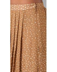 Tibi | Brown Constellation Print Long Skirt | Lyst